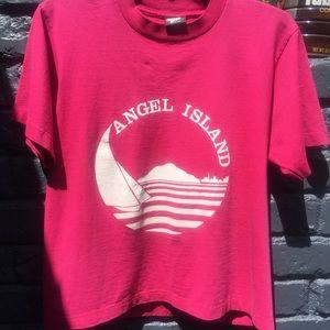 Vintage Angel Island cropped tee